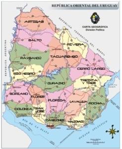Uruguay, división política en Departamentos