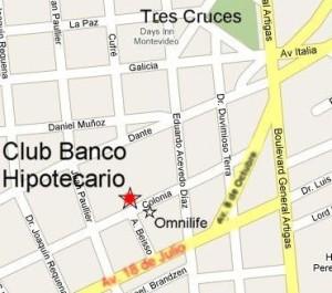 Plan de ubicación del Club Banco Hipotecario