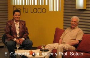 Prof. Sotelo en De Tu Lado TV hablando de marketing.